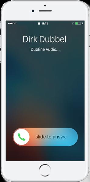 iOS iPhone met een belscherm van Dirk Dubbel