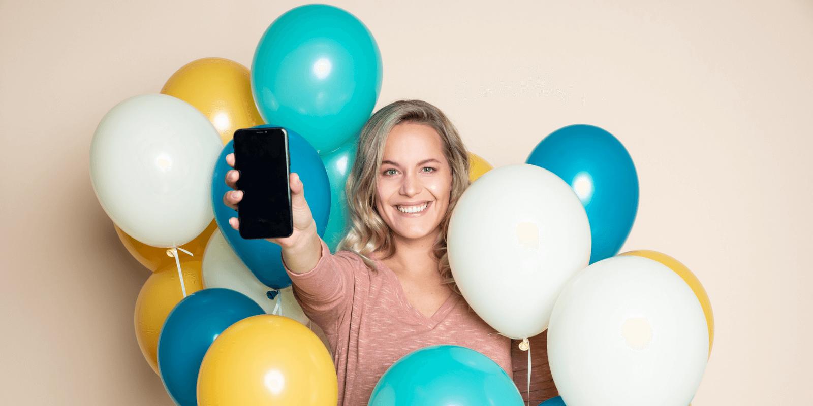 Vernieuwde Dubline app belfie-modus